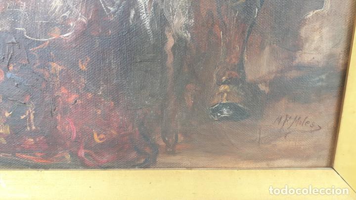Arte: magnifico oleo sobre lienzo,francisco moles siglo xix-xx, pintor andaluz,buen tamaño - Foto 20 - 200394402
