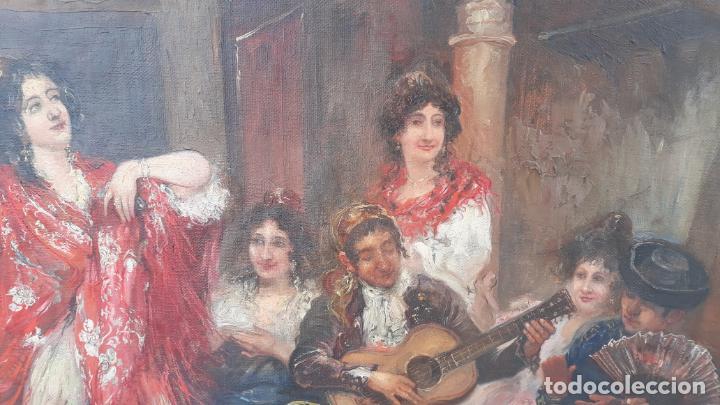 Arte: magnifico oleo sobre lienzo,francisco moles siglo xix-xx, pintor andaluz,buen tamaño - Foto 21 - 200394402