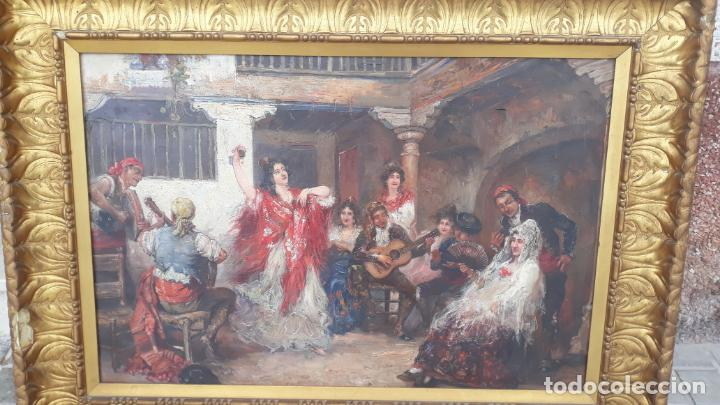 MAGNIFICO OLEO SOBRE LIENZO,FRANCISCO MOLES SIGLO XIX-XX, PINTOR ANDALUZ,BUEN TAMAÑO (Arte - Pintura - Pintura al Óleo Antigua sin fecha definida)