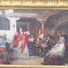 Arte: MAGNIFICO OLEO SOBRE LIENZO,FRANCISCO MOLES SIGLO XIX-XX, PINTOR ANDALUZ,BUEN TAMAÑO. Lote 200394402