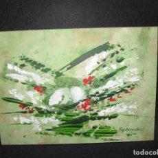 Arte: OLEO SOBRE TABLERO FIRMADO POR REDONDO. Lote 200542093