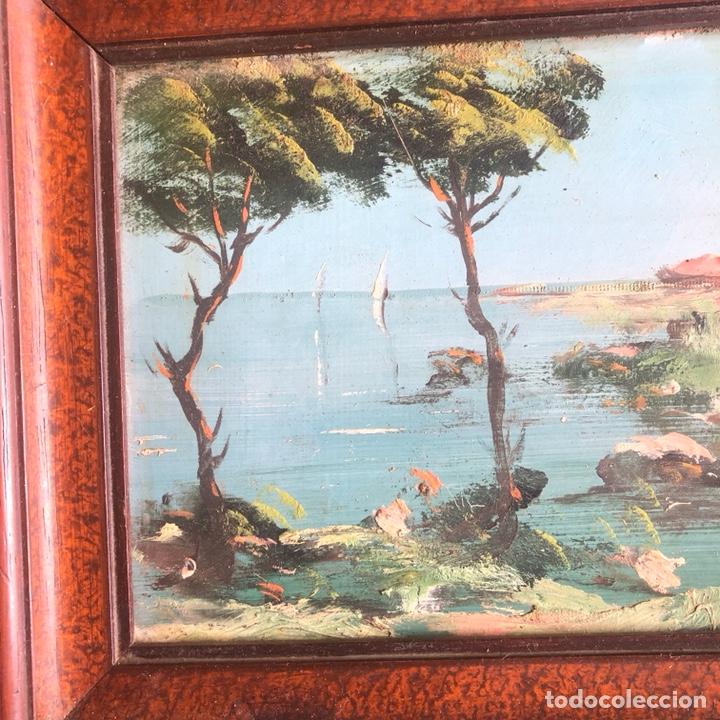 Arte: Lote de 2 óleos sobre tabla, uno de ellos firmado - Foto 2 - 200574502