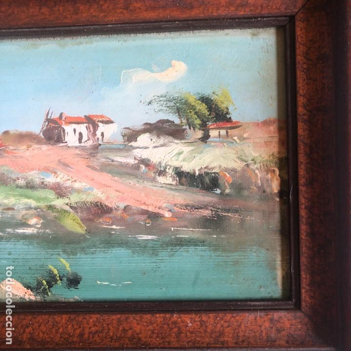 Arte: Lote de 2 óleos sobre tabla, uno de ellos firmado - Foto 4 - 200574502