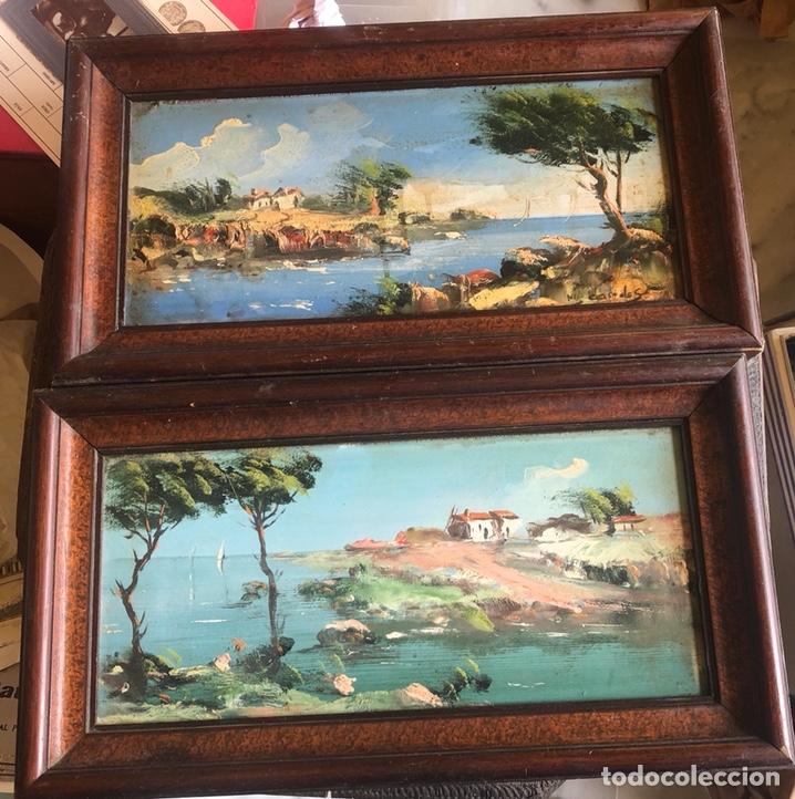 LOTE DE 2 ÓLEOS SOBRE TABLA, UNO DE ELLOS FIRMADO (Arte - Pintura - Pintura al Óleo Contemporánea )