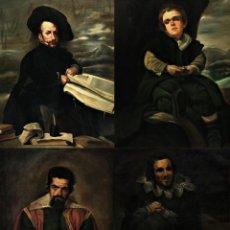 Arte: BUFONES DE VELAZQUEZ: EXTRAORDINARIA COLECCION S. XIX , 100X80 CMS MAGNIFICA CALIDAD. Lote 200581558