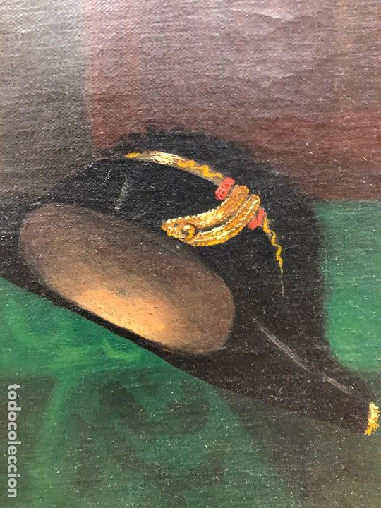 Arte: Retrato de militar o embajador, tela: 57x78 cm. Marco: 78x100 cm. Siglo XIX. España, ver fotos. - Foto 7 - 148769722