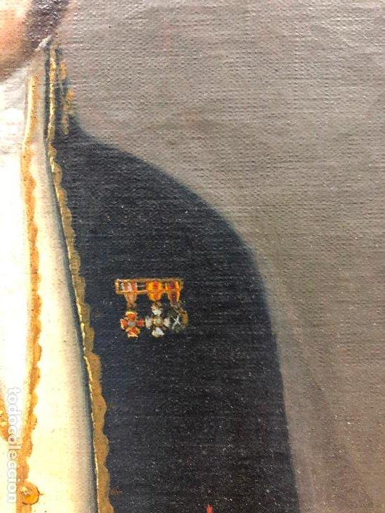 Arte: Retrato de militar o embajador, tela: 57x78 cm. Marco: 78x100 cm. Siglo XIX. España, ver fotos. - Foto 10 - 148769722