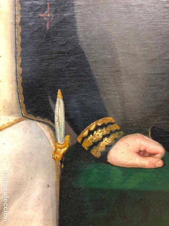 Arte: Retrato de militar o embajador, tela: 57x78 cm. Marco: 78x100 cm. Siglo XIX. España, ver fotos. - Foto 11 - 148769722