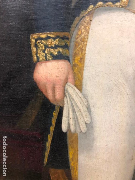 Arte: Retrato de militar o embajador, tela: 57x78 cm. Marco: 78x100 cm. Siglo XIX. España, ver fotos. - Foto 12 - 148769722