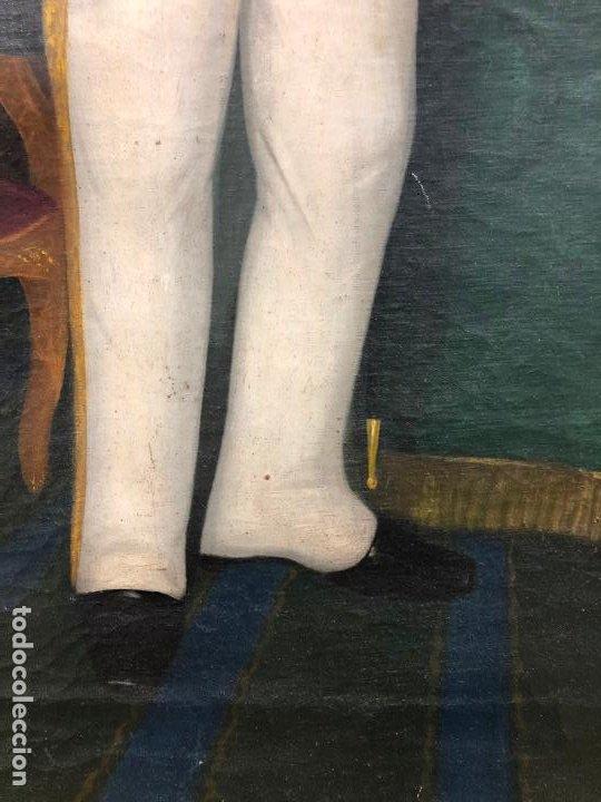 Arte: Retrato de militar o embajador, tela: 57x78 cm. Marco: 78x100 cm. Siglo XIX. España, ver fotos. - Foto 14 - 148769722
