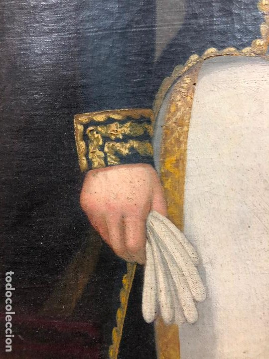 Arte: Retrato de militar o embajador, tela: 57x78 cm. Marco: 78x100 cm. Siglo XIX. España, ver fotos. - Foto 16 - 148769722