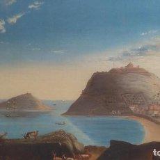 Arte: SAN SEBASTIAN ISLA SANTA CLARA DONOSTIA GUIPUZCOA XVII XVIII GUERRA PAISAJE URGULL VISTA 1813 BAHIA. Lote 200555616