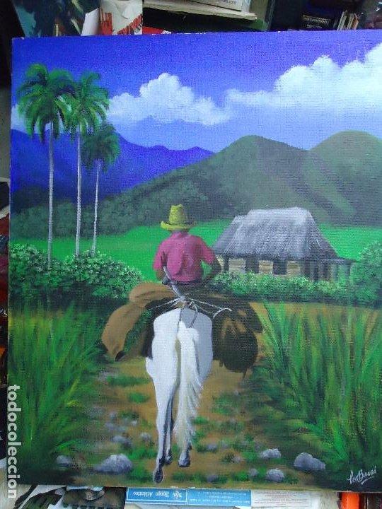 PRECIOSO ÓLEO LIENZO DE LEO BAUZÁ MIDE 65 X 55 CM. BELLOS COLORES MUY BUENA MANO VER FOTOS (Arte - Pintura - Pintura al Óleo Moderna siglo XIX)
