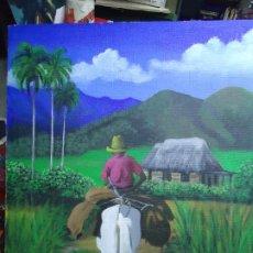 Arte: PRECIOSO ÓLEO LIENZO DE LEO BAUZÁ MIDE 65 X 55 CM. BELLOS COLORES MUY BUENA MANO VER FOTOS. Lote 200646788