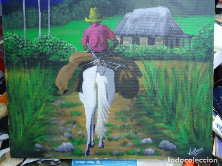 Arte: PRECIOSO ÓLEO LIENZO DE LEO BAUZÁ MIDE 65 X 55 cm. BELLOS COLORES MUY BUENA MANO VER FOTOS - Foto 4 - 200646788