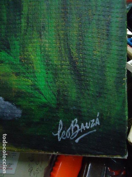 Arte: PRECIOSO ÓLEO LIENZO DE LEO BAUZÁ MIDE 65 X 55 cm. BELLOS COLORES MUY BUENA MANO VER FOTOS - Foto 5 - 200646788