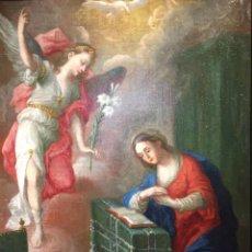 Arte: ESCUELA ITALO-FLAMENCA (SIGLO XVII) ANUNCIACIÓN DE LA VIRGEN. Lote 200647666