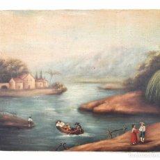 Arte: PAISAJE ANDALUZ S. XIX. OLEO SOBRE LIENZO. Lote 36419252