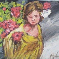 Arte: MUJER DEL SUR (ORIGINAL). Lote 200648538