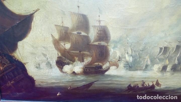 Arte: oleo sobre lienzo-BATALLA NAVAL- - Foto 3 - 200749538