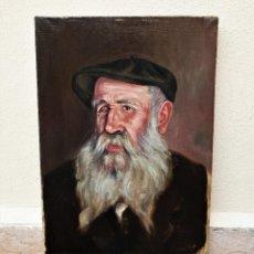 """Arte: EL SEÑOR SIMÓN, """"MATAPULGAS"""". ÓLEO SOBRE LIENZO. FIRMADO: CLAUDIO COLL. 12-8-1925.. Lote 200805762"""