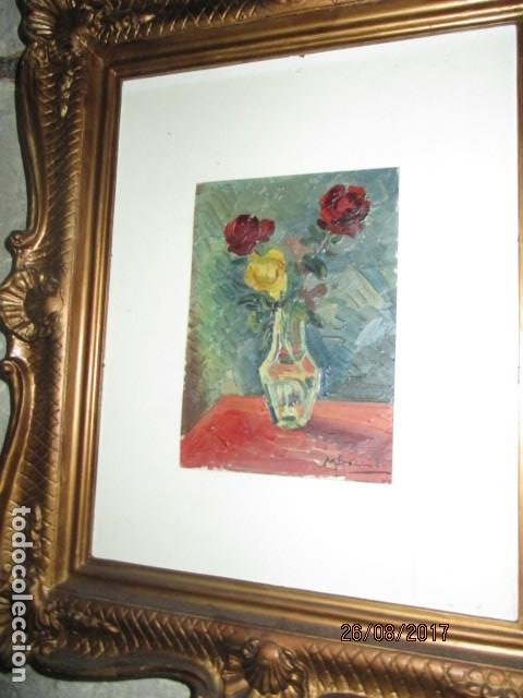 Arte: ANTIGUA PINTURA OLEO ORIGINAL MELCHOR ARACIL GALLEGO 1906 -.1966 ALICANTE compañero de gaston cas - Foto 13 - 200858037