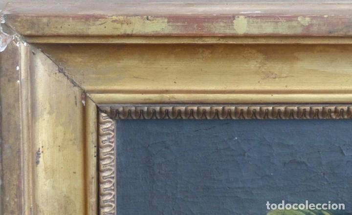 Arte: BODEGÓN DE GRANADAS Y FLORES - SIGLO XVIII - 41 X 53 CM - GRAN CALIDAD. - Foto 7 - 201140586