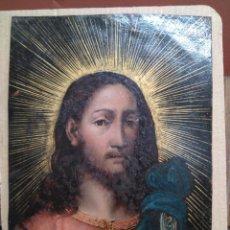 Arte: SALVATORE MUNDI, ÓLEO SOBRE COBRE. Lote 201170530