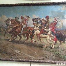 Arte: FEDERICO GAZTAMBIDE. ESCENA DE CACERIA. 1925. Lote 201204993