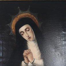 Arte: OLEO SOBRE LIENZO,PINTURA COLONIAL PERUANA VIRGEN DE LA SOLEDAD O DE LA PALOMA,MARCOS ZAPATA 1710-77. Lote 201238930