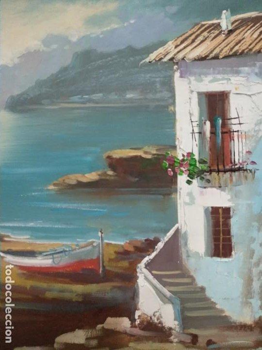 Arte: J. Mir óleo sobre lienzo paisaje - Foto 2 - 201264455