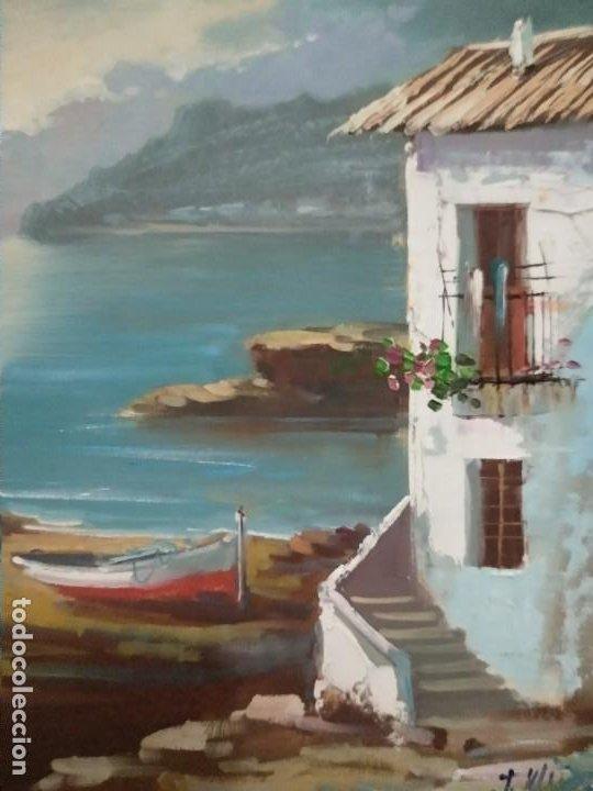 Arte: J. Mir óleo sobre lienzo paisaje - Foto 3 - 201264455