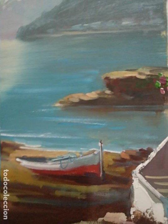 Arte: J. Mir óleo sobre lienzo paisaje - Foto 4 - 201264455
