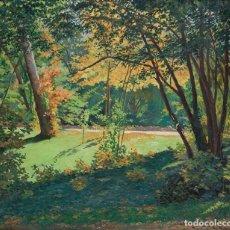 Arte: ANTONIO MAFFEI CARBALLO, (LA HABANA 1885-VALLADOLID 1961). EL CAMPO GRANDE, VALLADOLID. Ó/LIENZO.. Lote 201272801