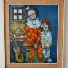 Arte: JORDI BONÁS ( *1937, BARCELONA ) - ARLEQUINES: PINTURA EXPRESIONISTA. Lote 201294242