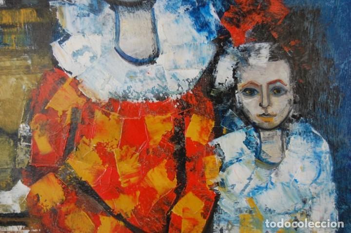 Arte: JORDI BONÁS ( *1937, Barcelona ) - ARLEQUINES: PINTURA EXPRESIONISTA - Foto 4 - 201294242