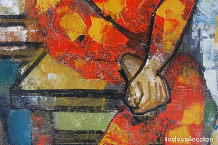 Arte: JORDI BONÁS ( *1937, Barcelona ) - ARLEQUINES: PINTURA EXPRESIONISTA - Foto 5 - 201294242