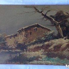 Arte: PAISAJE - OLEO SOBRE TABLA PRINCIPIOS S. XX FIRMADA - 32X18 CM. Lote 201298350
