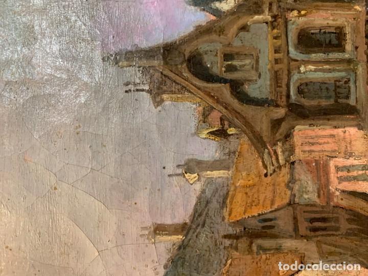Arte: MAGNIFICA VISTA DE UNA CIUDAD FLAMENCA - Foto 4 - 201304376