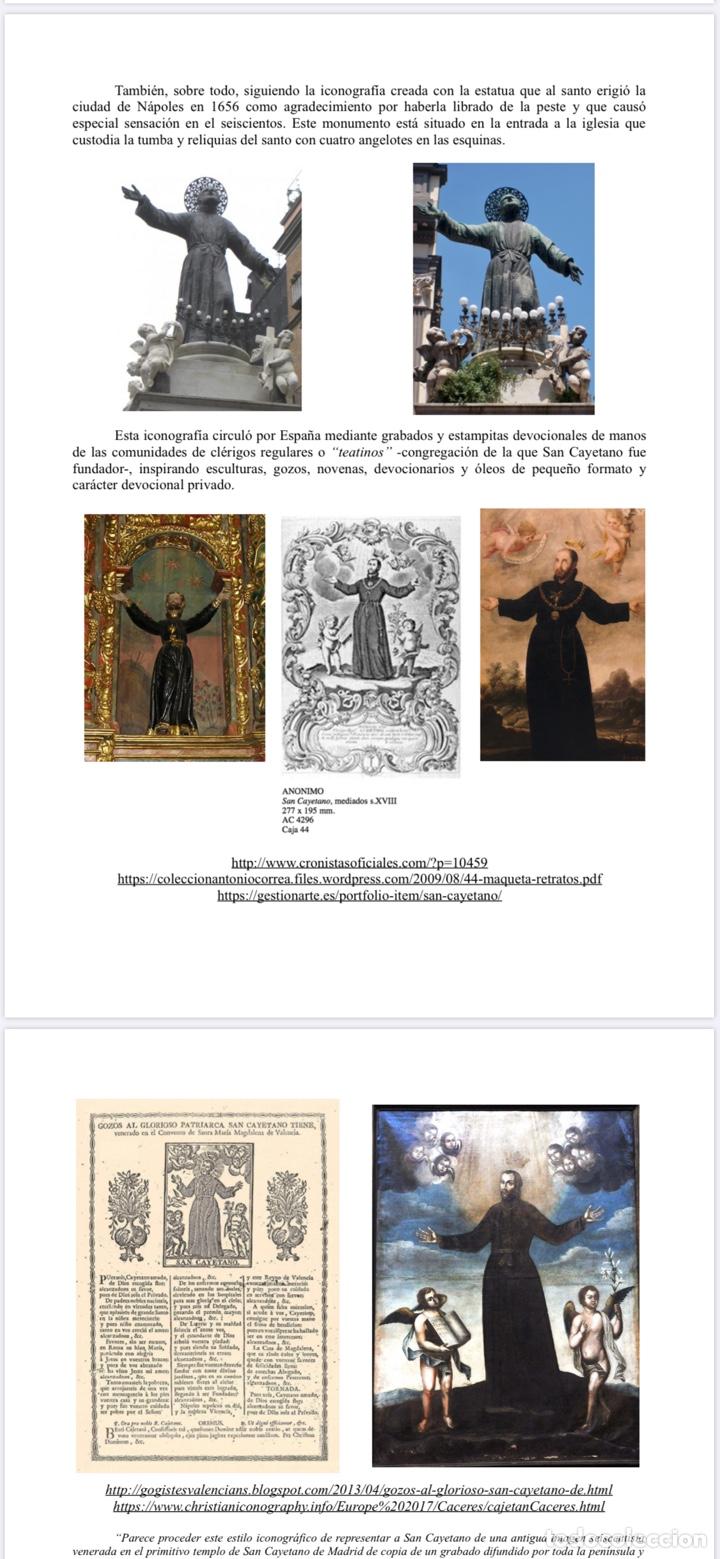 Arte: LA GLORIFICACIÓN DE SAN CAYETANO de Diego López, el Mudo discípulo oficial de Juan Carreño. - Foto 12 - 195056710