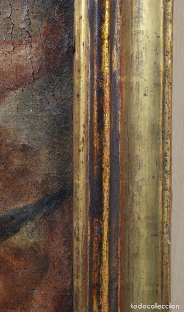 Arte: Óleo lienzo Inmaculada Concepción rodeada de ángeles y arcángeles Escuela sevillana siglo XVIII - Foto 16 - 229366890