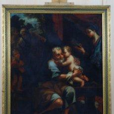 Arte: ÓLEO LIENZO EL TALLER DE SAN JOSÉ SEGUIDOR CARLO MARATTA ESCUELA ESPAÑOLA SIGLO XVII XVIII. Lote 201531925