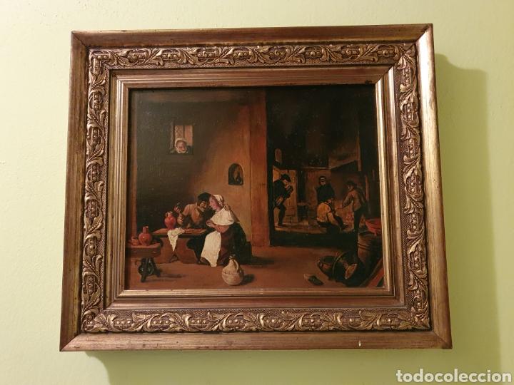 PRECIOSO CUADRO COSTUMBRISTA PINTADO SOBRE TABLA ESTA FIRMADO (Arte - Pintura - Pintura al Óleo Antigua sin fecha definida)