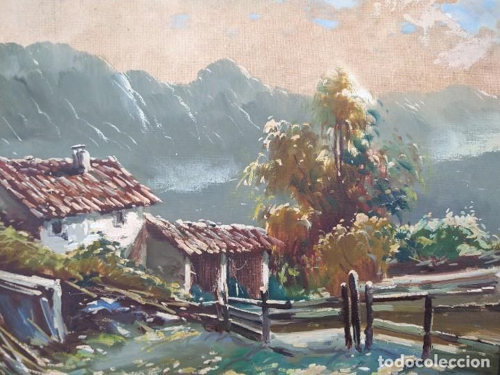 Arte: GIANNI GIANELLA (CHIASSO, 1930-2005). PAISAJE DE MONTAÑA. ÓLEO SOBRE LIENZO. FIRMADO. - Foto 2 - 96776647