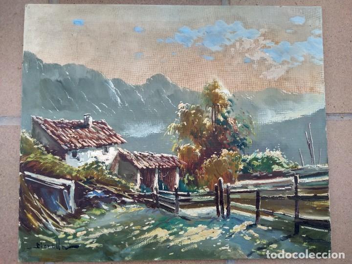 GIANNI GIANELLA (CHIASSO, 1930-2005). PAISAJE DE MONTAÑA. ÓLEO SOBRE LIENZO. FIRMADO. (Arte - Pintura - Pintura al Óleo Contemporánea )