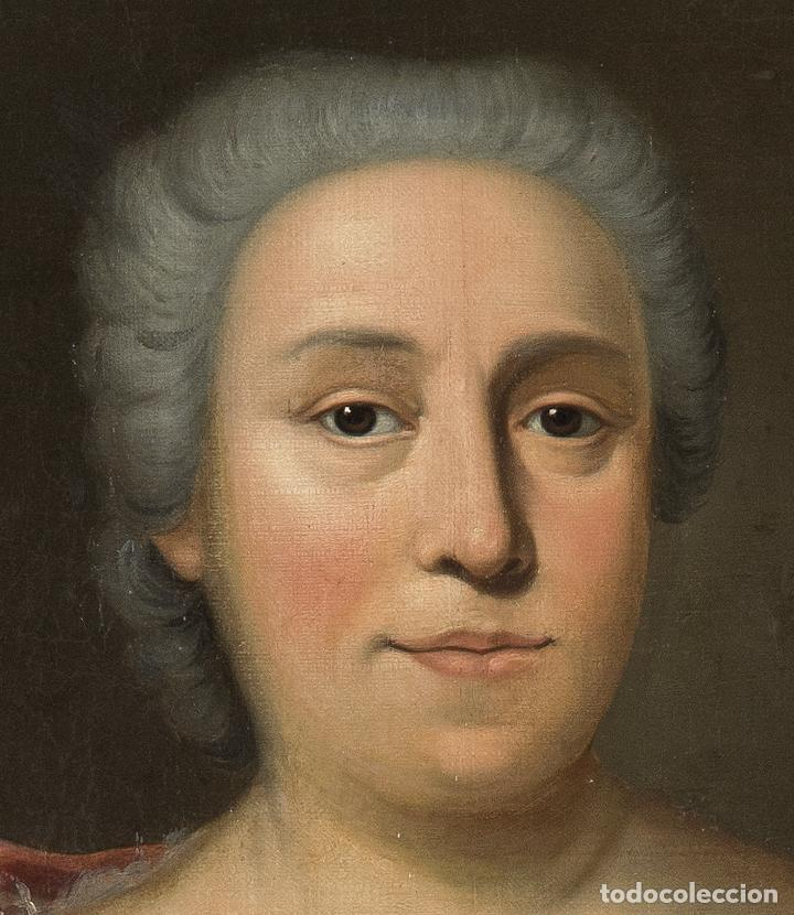 Arte: Óleo lienzo Retrato de dama Escuela francesa siglo XVIII - Foto 5 - 197083196