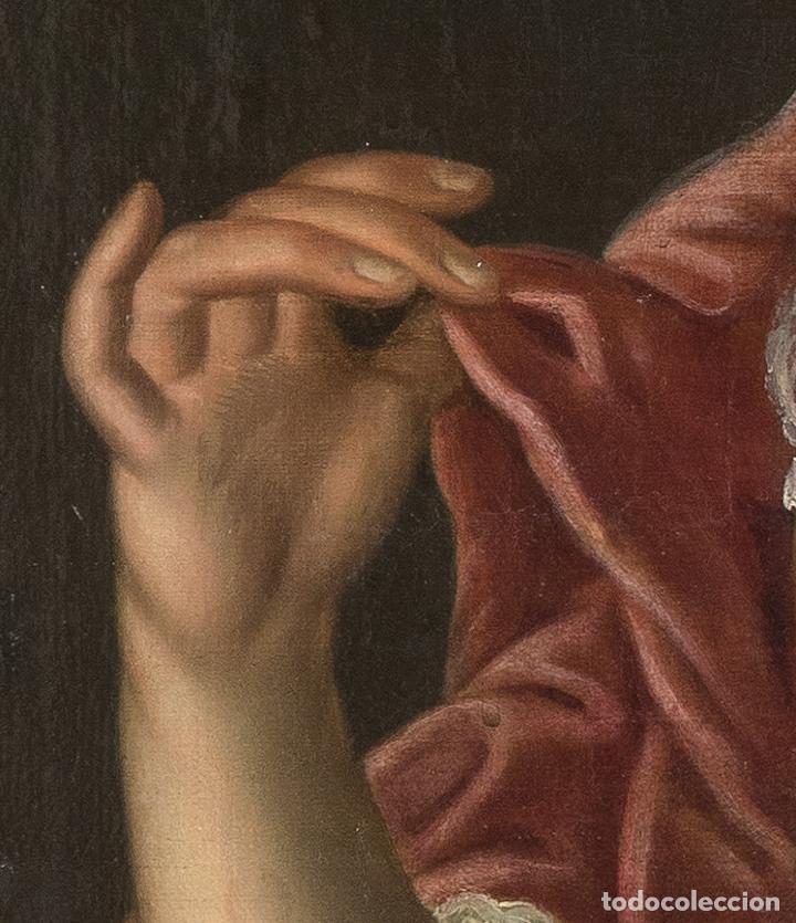 Arte: Óleo lienzo Retrato de dama Escuela francesa siglo XVIII - Foto 8 - 197083196