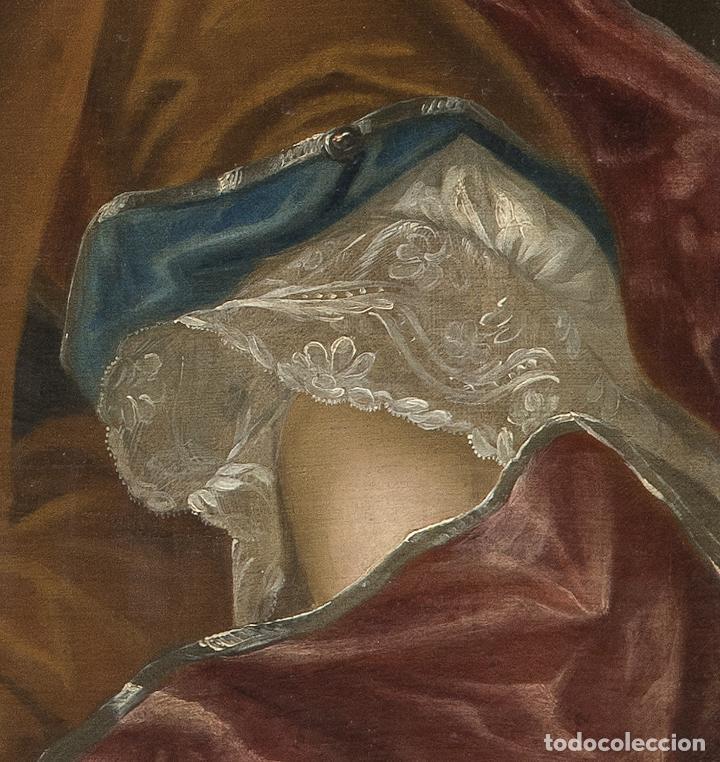 Arte: Óleo lienzo Retrato de dama Escuela francesa siglo XVIII - Foto 10 - 197083196