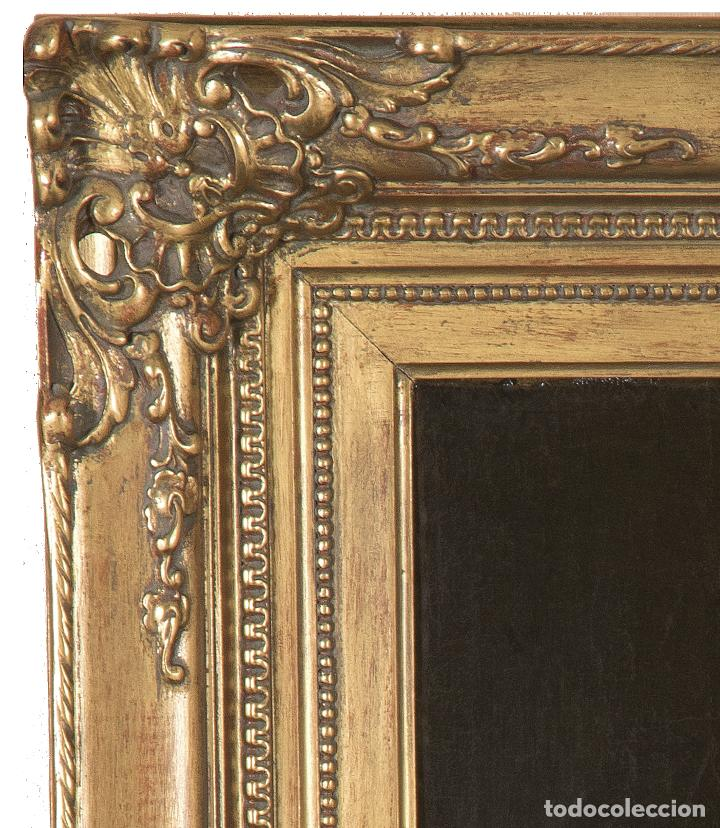 Arte: Óleo lienzo Retrato de dama Escuela francesa siglo XVIII - Foto 11 - 197083196