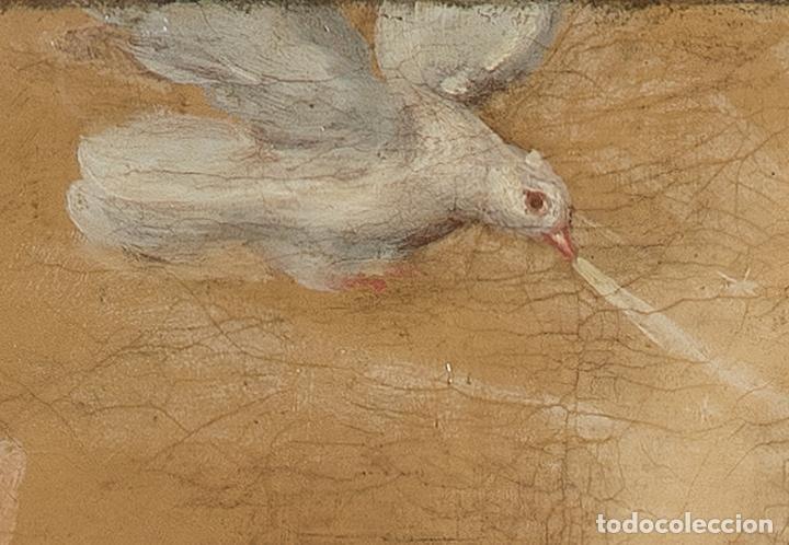 Arte: Óleo lienzo Inmaculada Escuela valenciana siglo XVIII - Foto 8 - 197343010